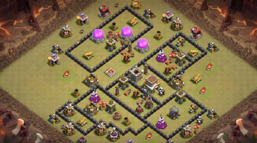 Best Town Hall 8 war base for CWL
