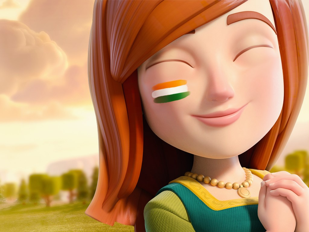 Clash of clans Indian wallpaper