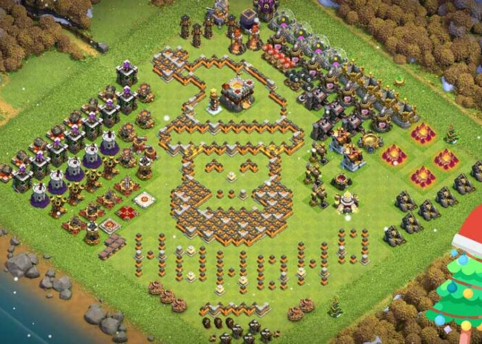 Clash of clans Christmas base layouts with links