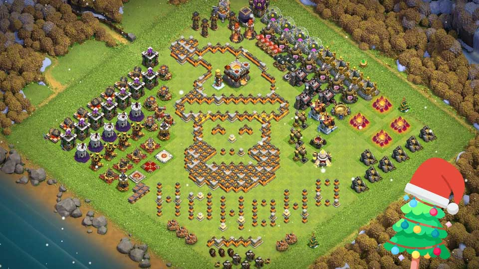 Clash of Clans Christmas Base With Links