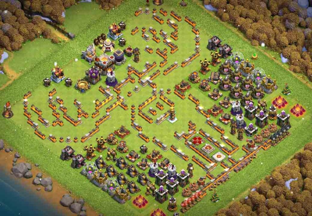Clash of Clans Christmas base