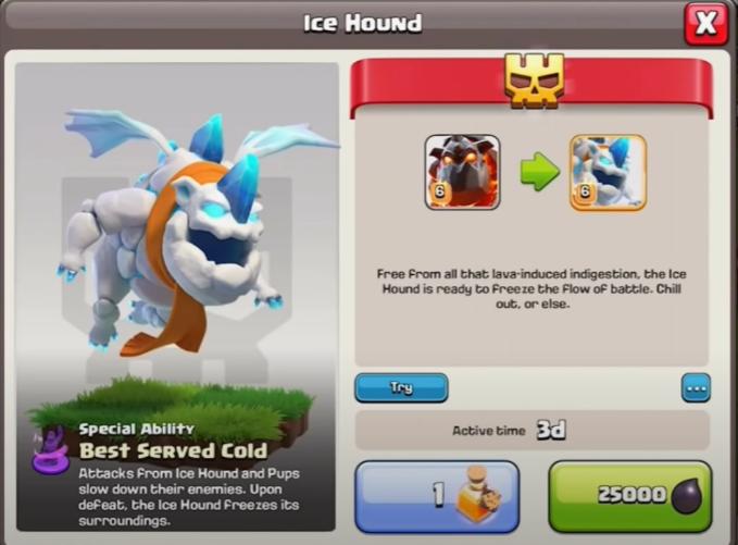 Hot unlock Ice Hound